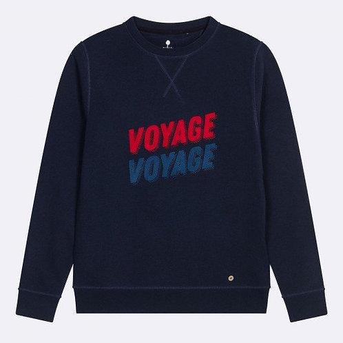 Faguo navy blue voyage voyage sweatshirt