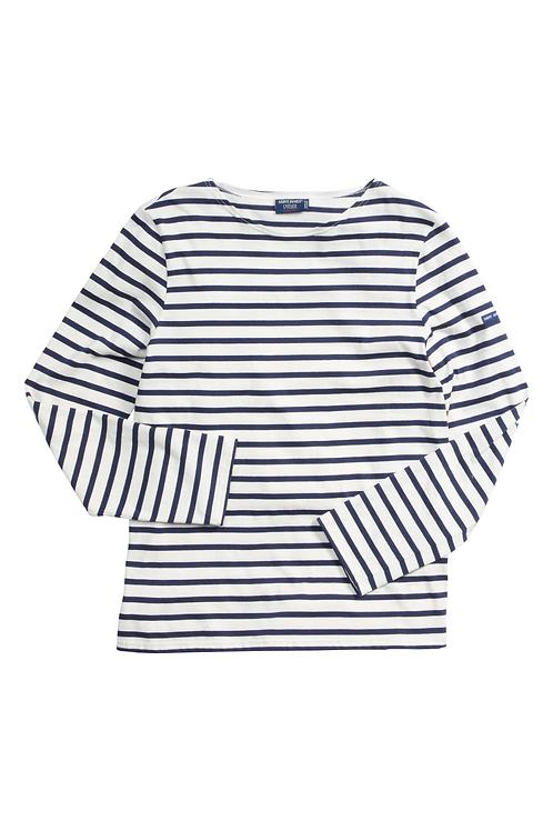 Saint James Mariniere Minquier moderne ecru and navy shirt