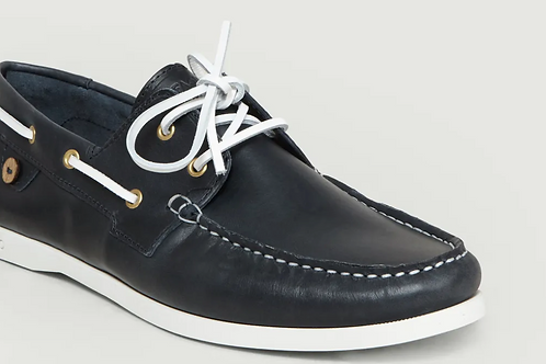 Faguo Navy leather Deck shoes