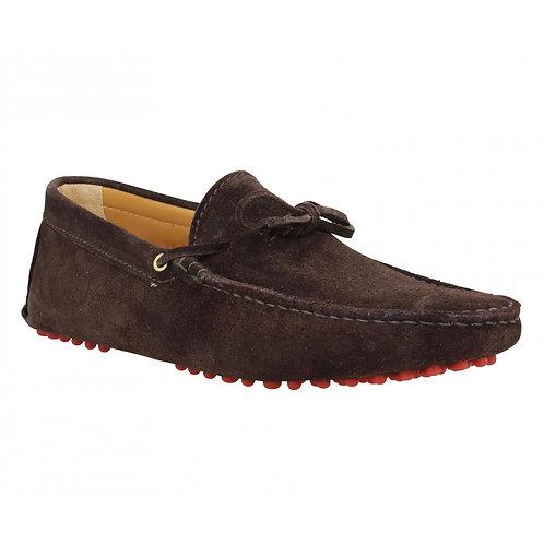 Bobbies le magnifique Brown Suede leather