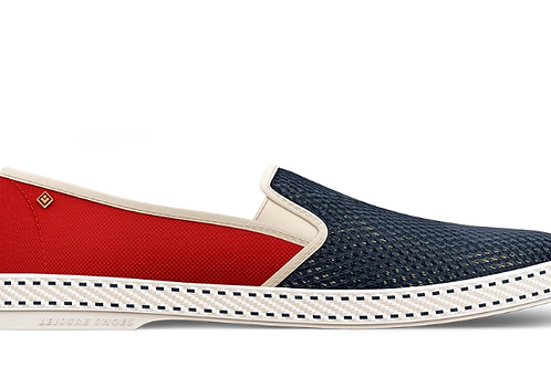 Rivieras Red and Navy blue canvas shoes