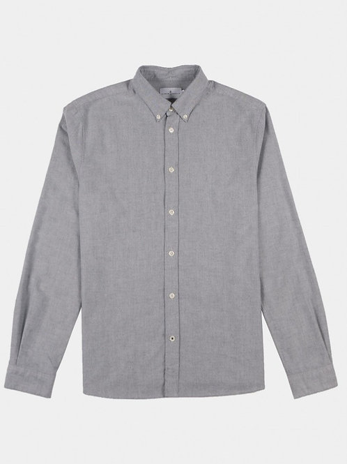 LIGHT GREY BRUSHED OXFORT SHIRT