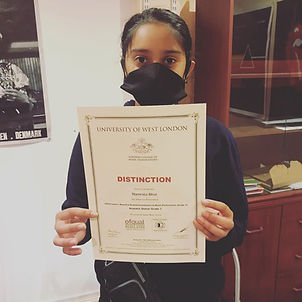 Teen With Certificate from St Albans Guitar Lesson