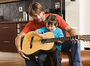 Picture Describing Guitar Lessons in St Albans for Small Children