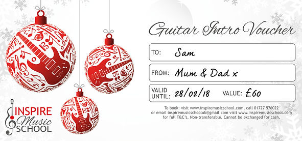 Guitar Lessons St Albans Christmas Vouch