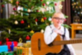 Guitar Lessons St Albans | Chirstmas Acoustc Guitar Student