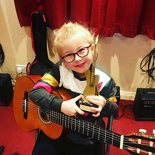 Girl Guitar Student In St Albans