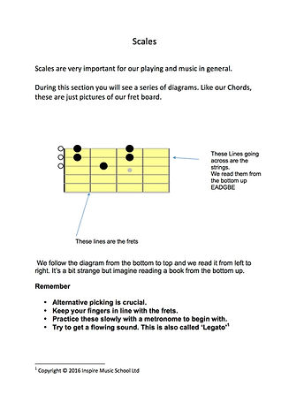 Guitar Lesson Information in St Albans At Inspire Music School