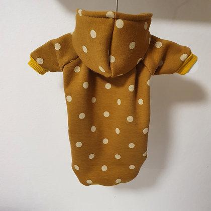 Hoodie Mustard Dots