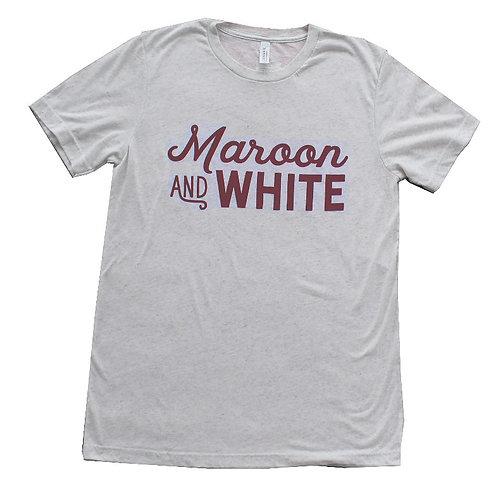 Maroon @ White