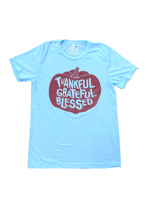 Thankful Grateful Blessed short sleeve