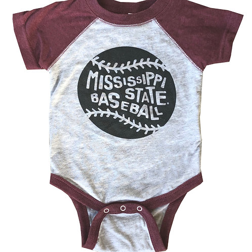 Mississippi State Baseball Onesie