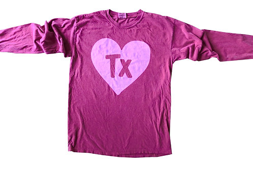 Crimson + Pink Long Sleeve State Heart