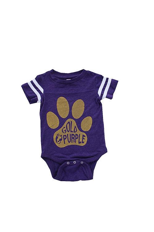Purple & Gold Onesie
