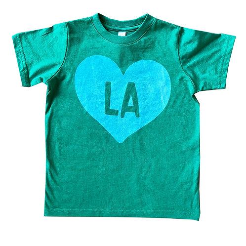 Green + Mint State Heart Kid
