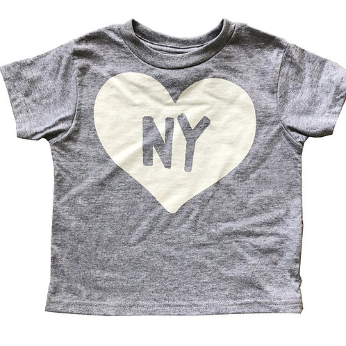 Grey + White State Heart Kid