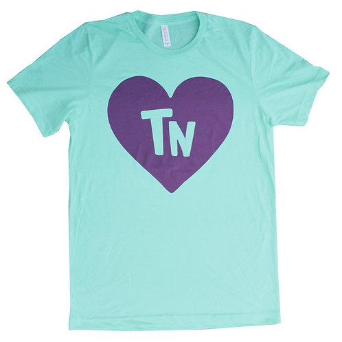 Mint + Purple State Heart Adult