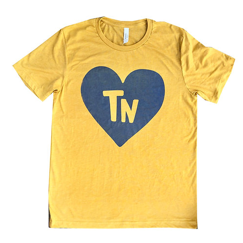 Yellow + Royal State Heart Adult