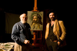 Dan Greene painting AlexeySteele