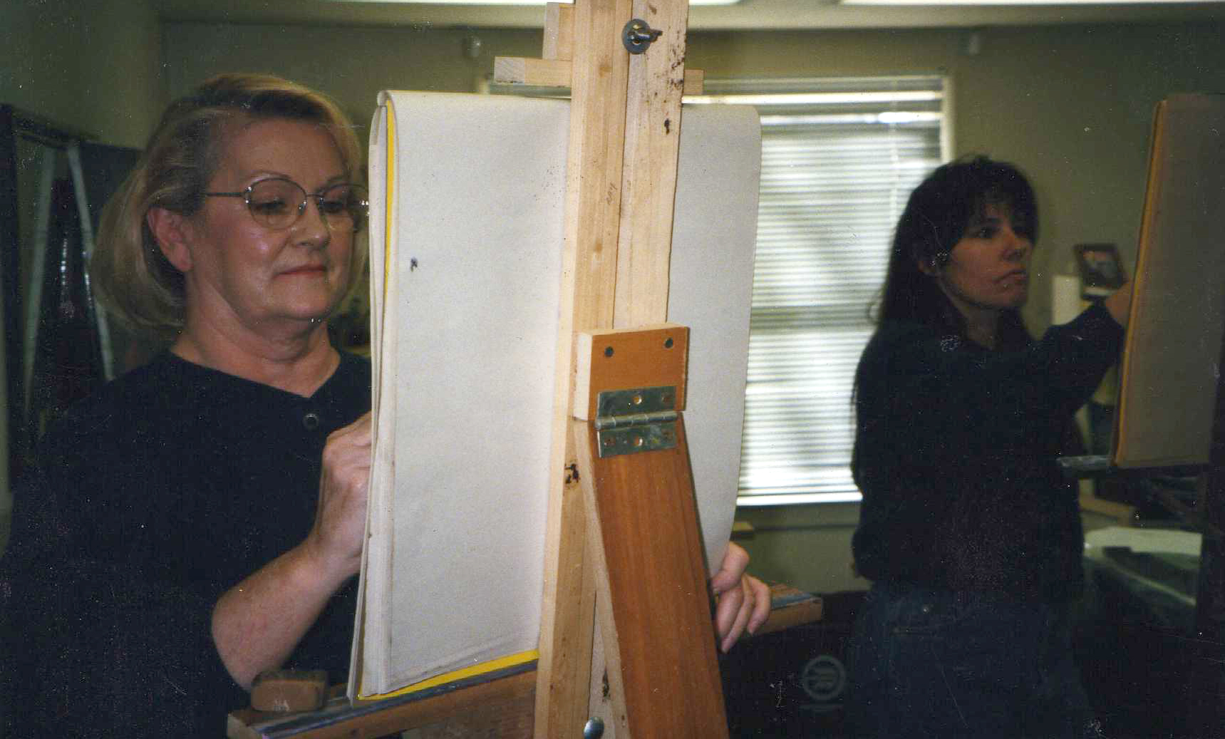 Painting in shirley Pharris studio 1993