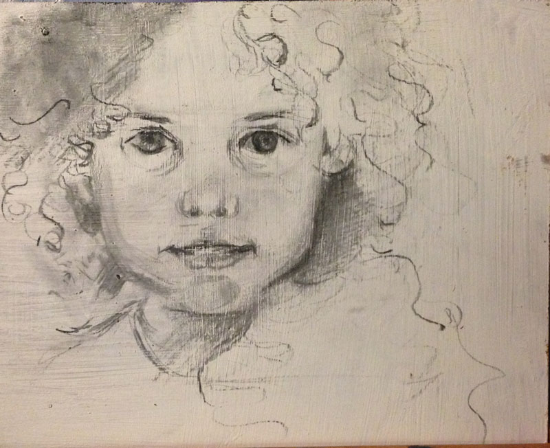Charcoal on Masonite Board