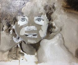 First layer of Raw Umber & White