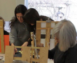 One on One Instruction at Easel