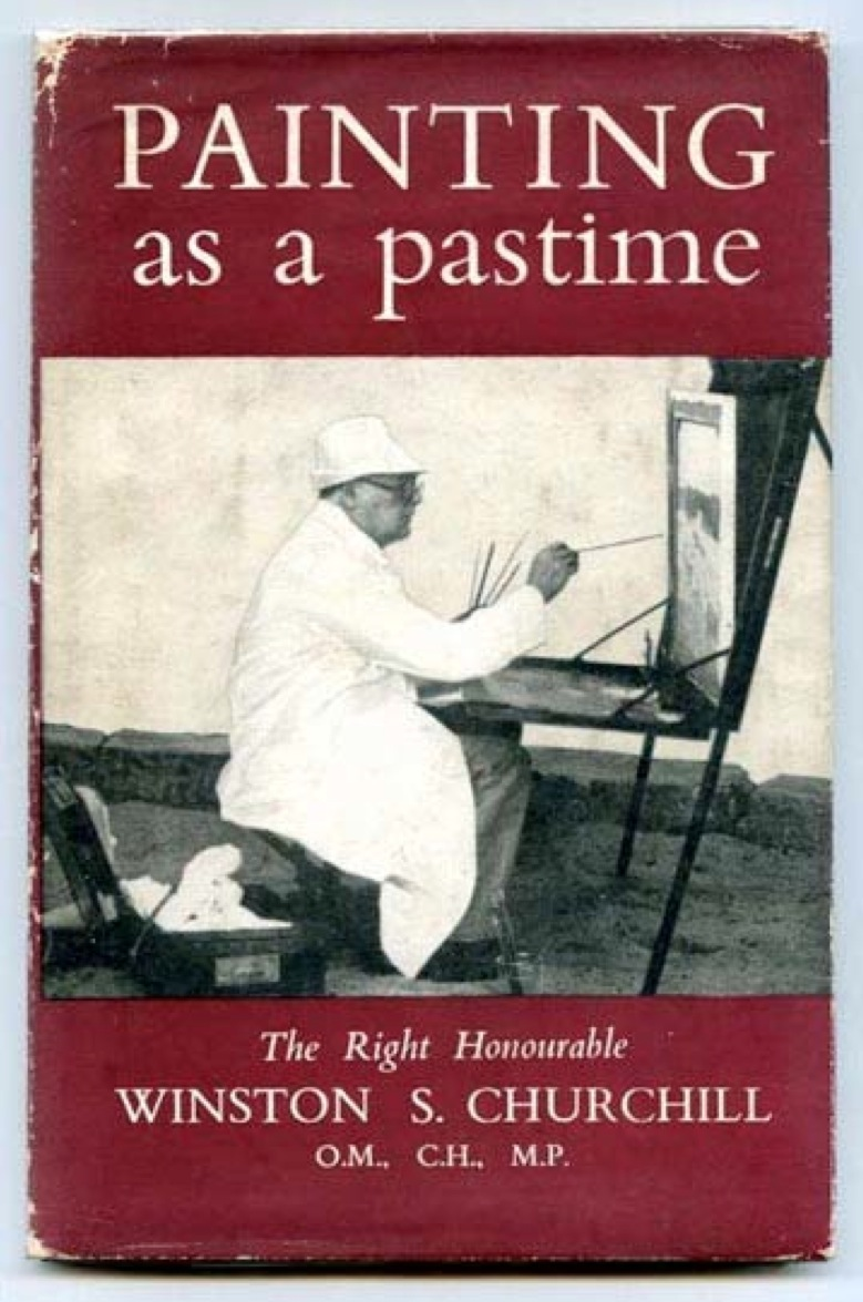 Winston Churchill painting as a pastime bookcover