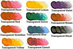 List of Transparent Oil Paints