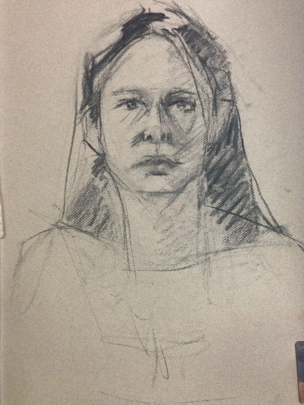 Charcoal Sketch (1st session 25 min)