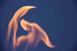 abstract image of fire on black sky