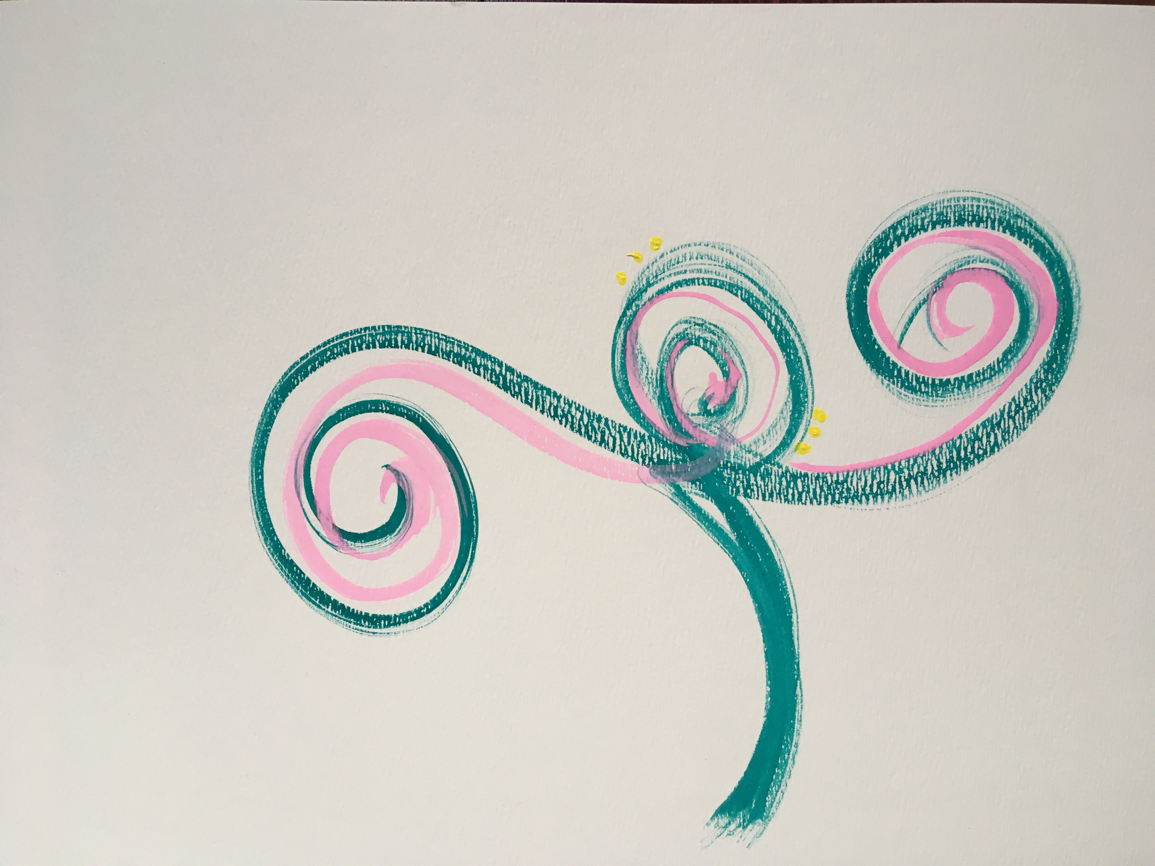 abstract watercolor acrylic flower