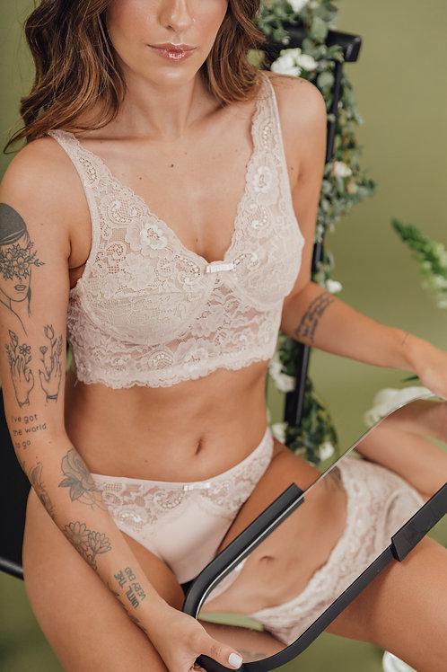 Top Admiração Nude Rosado