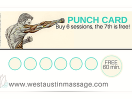 Invest in your wellness with loyalty punch cards