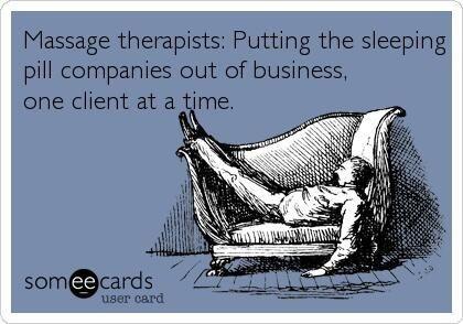 massage therapy sleep meme