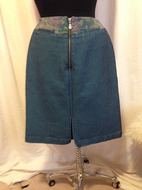 Qinyisun Knee Length Denim Skirt