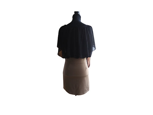 DOWISI Taupe and Black Dress - Size:  Medium
