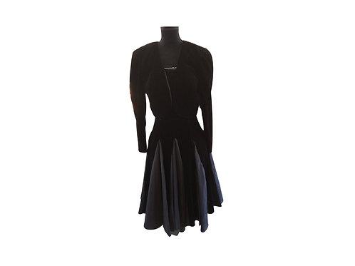 Algo-Ettes Classic Vintage Cocktail Dress - Size:  Small