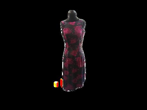 ALGO Velvet Sequined Dress - Size:  Small