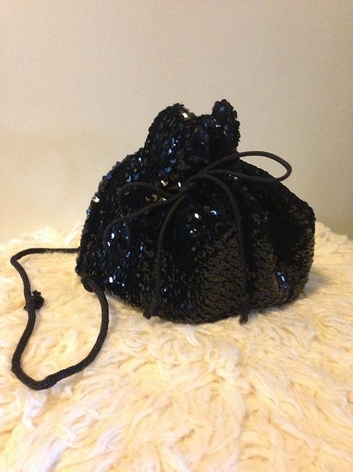Black Sequin Tote