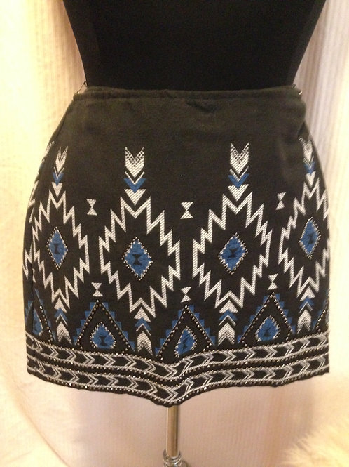 DIVIDED - Denim Beaded Mini Skirt