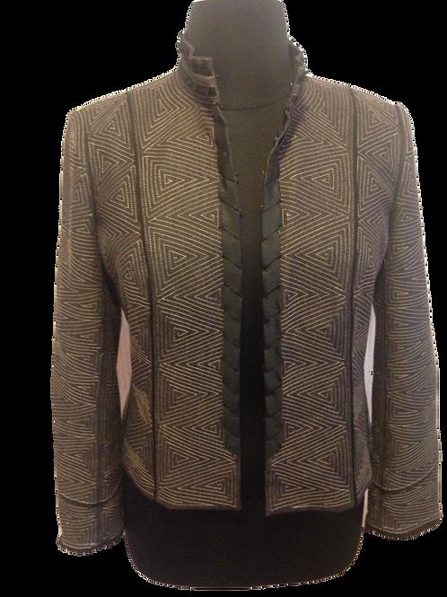 Diagonal Patterned Brown Jacket