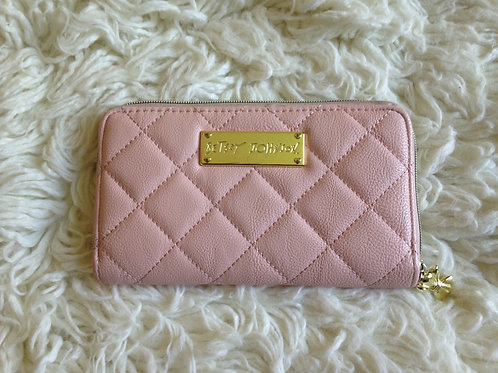 Betsey Johnson Blush Pink Leather Clutch
