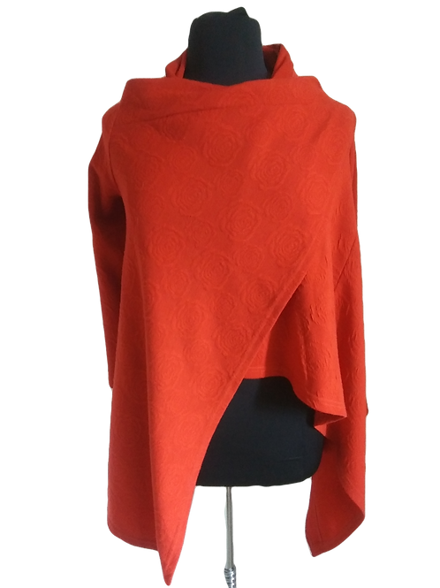 Burnt Orange Wrap with Sleeves -  Size:  Fits All
