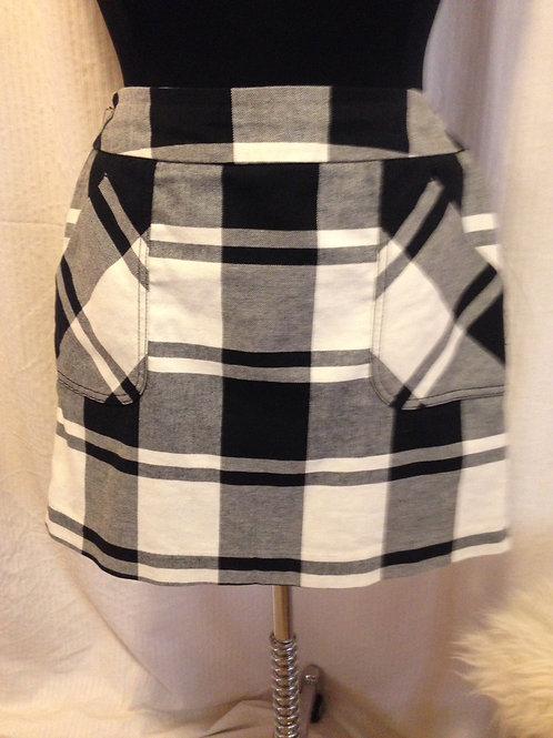 Tommy Hilfiger Wide Checked Mini Skirt