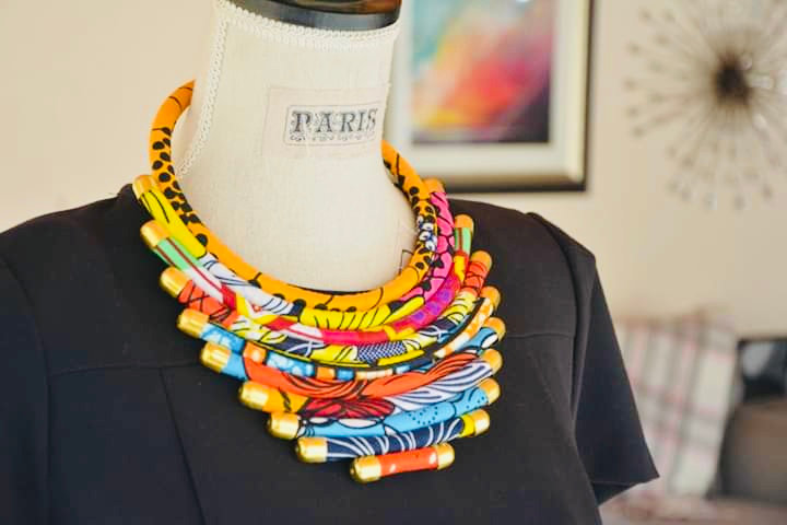 10 layer Ankara neckpiece.