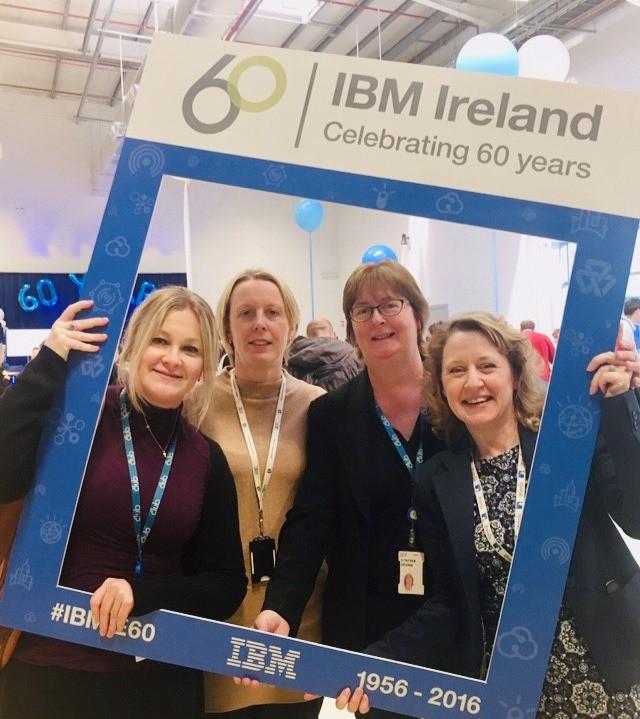 Órla King with IBM Ireland team