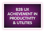 7. B2B UX Achievement in Productivity &
