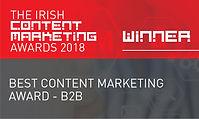 Best Content Marketing Award - B2B 2018
