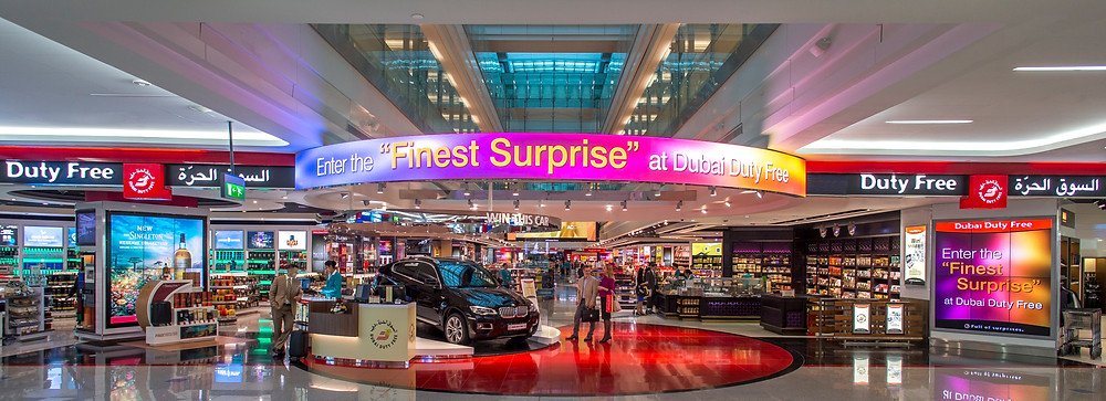 Dubai Duty Free shopping complex at Concourse A